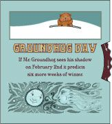 groundhog day printable pop-up- Marilyn Scott Waters - thetoymaker.com - her site is full of very cute FREE printables and paper toys. I have loved her for years.