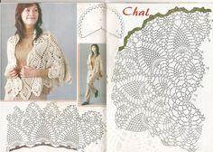 DE MIS MANOS TEJIDOS Y MAS...: Chal con punto piña crochet