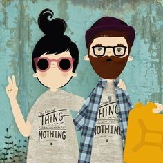 Good suggestions to discover Couple Illustration, Character Illustration, Hipster Illustration, Illustration Mignonne, Let's Make Art, Hipsters, Cute Love, Doodle Art, Just In Case