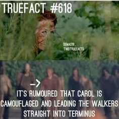 The walking dead fact carol Walking Dead Facts, Walking Dead Show, Walking Dead Tv Series, Fear The Walking Dead, Talking To The Dead, True Facts, Dead Man, Daryl Dixon, Staying Alive