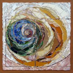 abstract mosaic artworks inspired by nature and the natural world, created by mosaic artist Cynthia Fisher