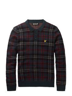 Tartan Knitted Polo Shirt