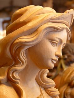 Madonna, Wood, Carved, Fig, Girl, Woman, Face, Pretty