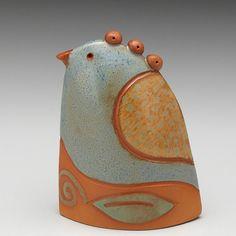Oiseau en céramique fait à la main home déco par DavisVachon