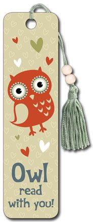 Owl Read with You - Beaded Bookmark- have stuffed owl animals to read with.would be simple to make Cute Bookmarks, Beaded Bookmarks, Stuffed Owl, Screech Owl, Owl Pet, Cute Owl, Bird Feathers, Holidays And Events, Teacher Gifts