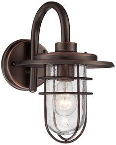 "John Timberland Ellison garage & front  12 3/4""H Copper Outdoor Wall Light | LampsPlus.com"