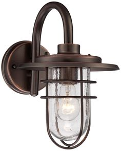 "Stratus Collection 12 3/4""H Bronze Outdoor Wall Light - also good for boys bath.  1 on either side of each mirror or just one centered over top of each mirror with schoolhouse flush mount centered on ceiling"