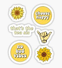 Yellow Pack stickers featuring millions of original designs created by independent artists. Decorate your laptops, water bottles, notebooks and windows. Homemade Stickers, Diy Stickers, Printable Stickers, Sticker Ideas, Tumblr Stickers, Phone Stickers, Vsco, Aesthetic Stickers, Glossier Stickers
