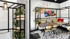 The new architectural concept for Goody's Burger House restaurants was created in response to the company's desire to redefine the identity of its fast food venues that have established it as a recognized brand name in the Greek market.