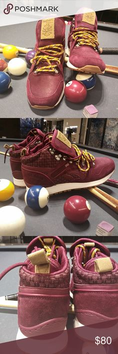 af72f701e64 REEBOK GL6000 BOOT This is a sample pair of gl6000 boots in burgundy suede  with wheat