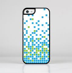 The Green and Blue Mosaic Pattern Skin-Sert for the Apple iPhone 5c Skin-Sert Case