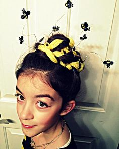 Wild queen bee costume. What a hair-do!