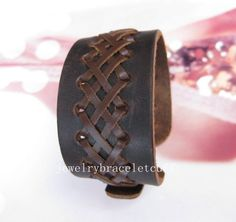 jewelry bangle leather bracelet buckle by jewelrybraceletcuff, $8.00