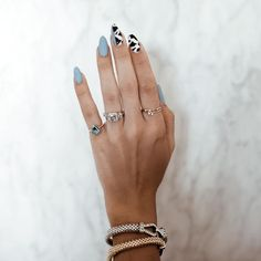 cute nails are readily available on our internet site. Cow Nails, Aycrlic Nails, Hair And Nails, Minimalist Nails, Summer Acrylic Nails, Best Acrylic Nails, Nail Swag, Fire Nails, Dream Nails