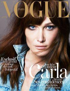 Carla Bruni Covers Vogue Paris, Says She's 'Not a Feminist'