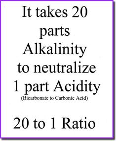 The Truth about alkalinity.    20 cups of water per 1 cup of soda was a huge realization for me