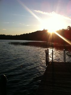 Plum Lake sunset