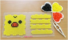 Kiiroitori box perler beads by Peggy Wu