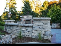 Leisurely Entertaining | Brydges Landscape Architecture Inc.  Dry stack stone walls really enhance the classic and formal feel of this space.