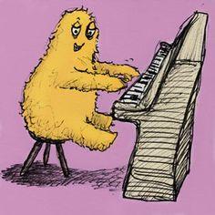 Yeti Pianist  by Emily Trotter Illustration