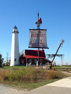 Tawas Point Lighthouse at East Tawas, Michigan