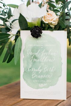 I love this program!   Photographer: Amanda K http://amandakphotoart.com  #wedding #program #weddingideas