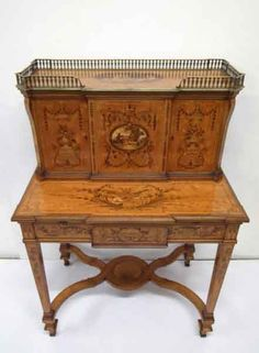 FABULOUS miniature ladies writing desk by Chris Malcomson.  Made from satinwood.