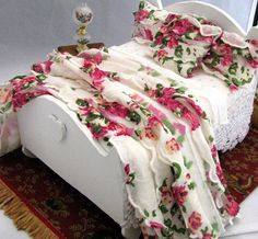 Dollhouse Bedding and Furniture for the Miniature Collector. $69.99, via Etsy.