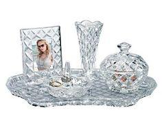 Amazon.com: Shannon Crystal Vanity Set by Godinger: Home & Kitchen