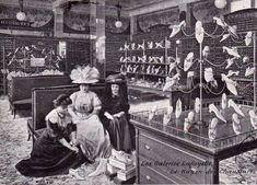 1890's Shopping for shoes-Neat shoe display
