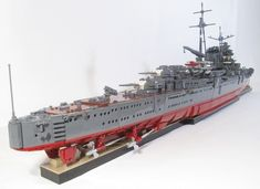 IJN Light Cruiser MOGAMI: A LEGO® creation by Mark Rodrigues : MOCpages.com