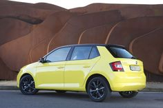 """Skoda Fabia. This has to be the only car that can pull off the colour """"lemon…"""