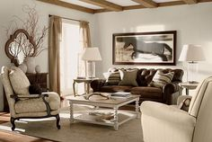 A vintage living room.