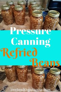 Pressure Canning Refried Beans - Healthy at Home This article discusses pressure canning refried beans. Preserving your own food can be a quick and Canning Pressure Cooker, Pressure Canning Recipes, Home Canning Recipes, Canning Tips, Raw Food Recipes, Pressure Cooking, Beans Recipes, Refried Beans Healthy, Make Refried Beans
