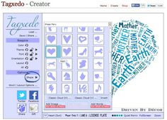Creating Personalized Word Cloud Art with Tagxedo - Driven by Decor Create Word Cloud, Word Cloud Art, Word Art, Driven By Decor, Family Wall Decor, Silhouette Cameo Tutorials, Diy Arts And Crafts, Color Themes, Shopping