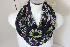 Floral infinity Scarves Floral tube scarf Women's by NESRINDESIGN