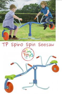 TP Spiro Spin Seesaw kids bounce and spin .so hold on tight and enjoy the ride. Garden Games, Garden Toys, Sand Pits For Kids, Social Activities, Gross Motor Skills, Seesaw, A Whole New World, Outdoor Play, Spinning