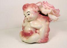 Vintage Hull Pink Pottery Baby Cherub Pocket by PSSimplyVintage