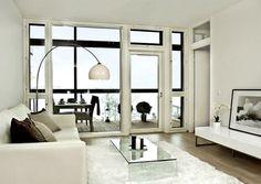 stailia-olohuone Home Living Room, Living Room Furniture, Luxury Furniture, Furniture Design, Interior Inspiration, Black And White, Nyc, Interiors, Home Decor