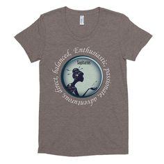 Sagittarius Girl - Women's short sleeve soft t-shirt White Font