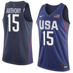 bc6781f33 Nike Team USA  15 Carmelo Anthony Navy Blue 2016 Dream Team Game NBA Jersey  Usa