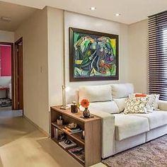 Apartamento de 63 m² com decoração neutra e aconchegante
