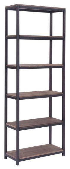Industrial Wood and Metal Shelving Unit, Bookcase, Rack *** Startling review available here  : Floating Shelves