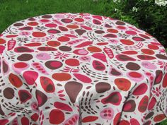 Cotton Tablecloth with Stylized Fruits & Vegetables by MilaStyle