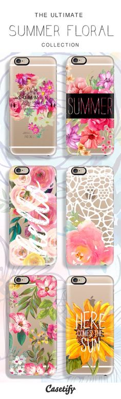 6 All time favourite summer floral protective iPhone 6 phone cases Cute Phone Cases, Iphone 6 Cases, Phone Covers, Iphone 7 Plus, Coque Ipad, Coque Iphone 6, Coque Ipod Touch 6, Portable Apple, Telephone Iphone