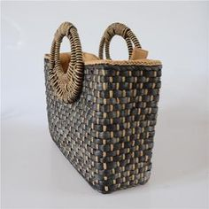 New straw bag hand-woven simple Joker Beach bag trend retro casual women's bags (Black) Stock Clearance Sale, Vogue Covers, Beautiful Handbags, How To Look Classy, Black And Brown, Straw Bag, Shopping Bag, Hand Weaving, Retro