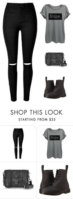 """Chilling"" by siljeask ❤ liked on Polyvore featuring Proenza Schouler and Dr. Martens"