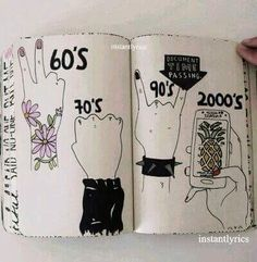 """Find and save images from the """"Destroza este diario 📖📰🎨"""" collection by 《Typical Girl ♡》 (Reecesdrug) on We Heart It, your everyday app to get lost in what you love. Wreck This Journal, Tumblr Soft, Grunge Girl, Oeuvre D'art, Cool Drawings, Art Inspo, Book Art, Art Projects, Art Photography"""