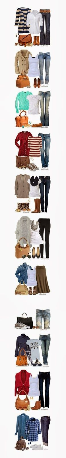 Top 15 outfits for fall and winters 2013 - oh my... I need a stylist. Just grab what is comfy!