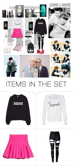 """""""Jin and Rap Monster BFF"""" by bulletproof-wolfie on Polyvore featuring art"""